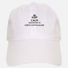 Keep calm and escape to North Baseball Baseball Captiva Island F Baseball Baseball Cap