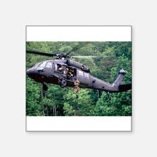 "Cute Army aviation blackhawk Square Sticker 3"" x 3"""
