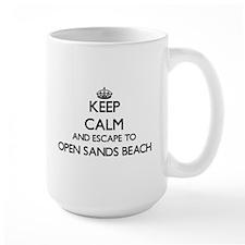 Keep calm and escape to Open Sands Beach Flor Mugs