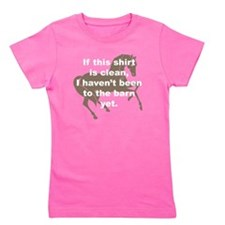Cute Horse trainer Girl's Tee