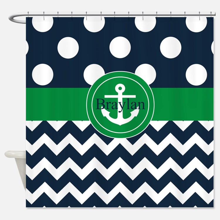 Surprising Navy And Green Shower Curtain Images - Best Image ...