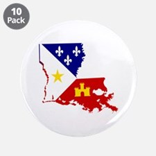 """Acadiana State of Louisiana 3.5"""" Button (10 pack)"""