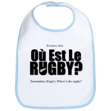 Black Rugby Humour Où Est Le Rugby? Bib