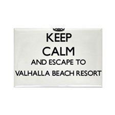 Keep calm and escape to Valhalla Beach Res Magnets
