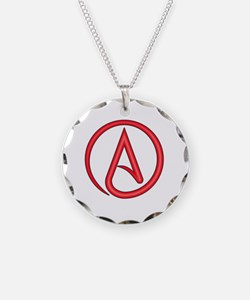Scarlet Letter Atheist Symbo Necklace