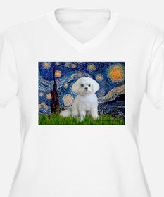 Starry Night / Maltese T-Shirt
