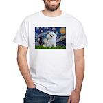 Starry Night / Maltese White T-Shirt