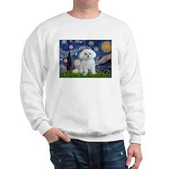 Starry Night / Maltese Sweatshirt