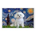 Starry Night / Maltese Sticker (Rectangle)