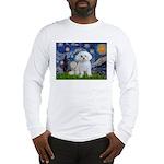 Starry Night / Maltese Long Sleeve T-Shirt