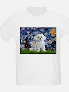 Starry Night / Maltese T-Shirt