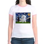 Starry Night / Maltese Jr. Ringer T-Shirt