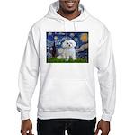 Starry Night / Maltese Hooded Sweatshirt