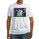 Starry Night / Maltese Fitted T-Shirt