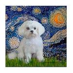 Starry Night / Maltese Tile Coaster
