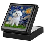 Starry Night / Maltese Keepsake Box