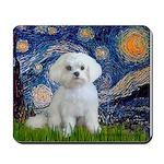 Starry Night / Maltese Mousepad
