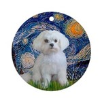 Starry Night / Maltese Ornament (Round)