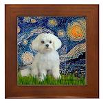 Starry Night / Maltese Framed Tile