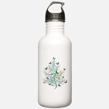 Flourishes and butterf Sports Water Bottle