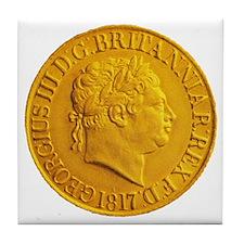 Gold Coin Tile Coaster