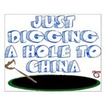 Digging a Hole to China Small Poster