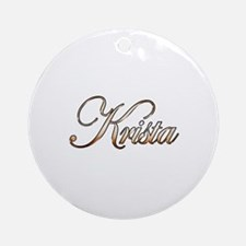Gold Krista Round Ornament