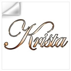 Gold Krista Wall Decal