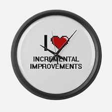 I Love Incremental Improvements Large Wall Clock