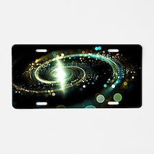 Milky way galaxy Aluminum License Plate