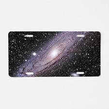 Funny Milky way galaxy Aluminum License Plate