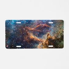 Cute Milky way galaxy Aluminum License Plate
