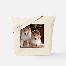 Cute Collie rough Tote Bag