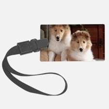Cute Rough collie Luggage Tag