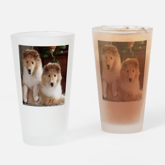 Unique Collie Drinking Glass
