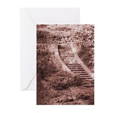 Steps Sepia Greeting Cards (Pk of 10)