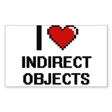 I Love Indirect Objects Decal