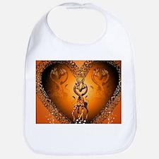 Cute couple giraffe in a heart Bib
