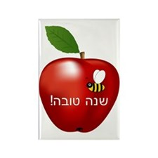 Apple and Bee Rectangle Magnet