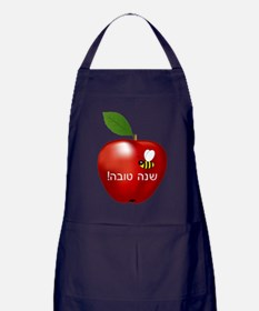 Apple and Bee Apron (dark)