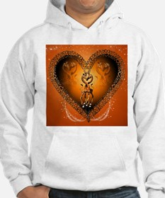Cute couple giraffe in a heart Hoodie