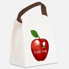 Apple and Bee Canvas Lunch Bag