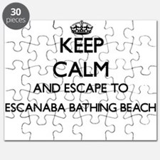 Keep calm and escape to Escanaba Bathing Be Puzzle