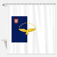 Flag of Azores Shower Curtain