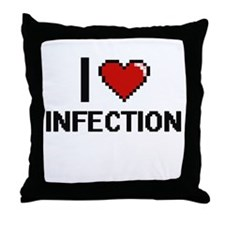 I Love Infection Throw Pillow
