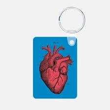 Vintage Anatomical Heart Illustration Keychains