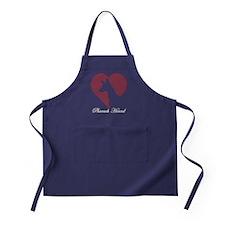 PHARAOH HOUND HEART HEAD TITLE Apron (dark)