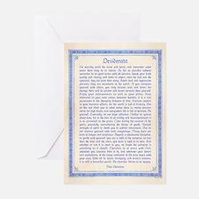 Desiderata11x14 Greeting Cards