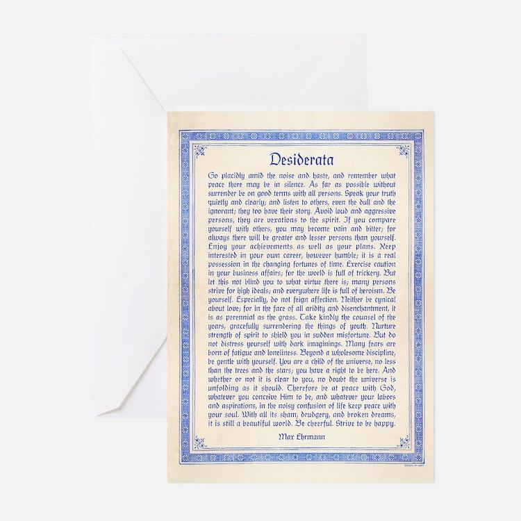 Desiderata Greeting Cards (Pk of 10)