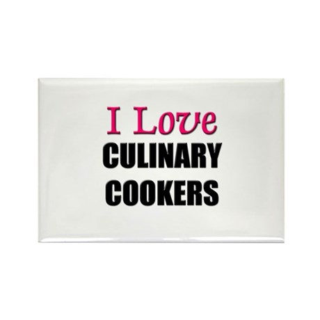 I Love CULINARY COOKERS Rectangle Magnet (10 pack)